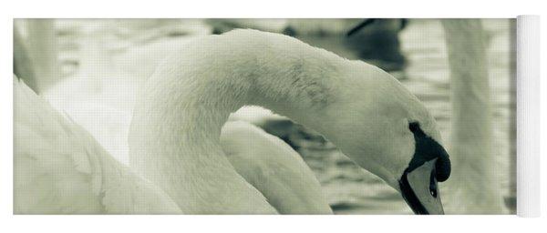 Swan In Water Yoga Mat