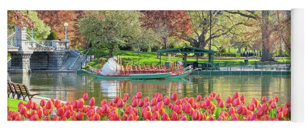Swans And Tulips 2 Yoga Mat