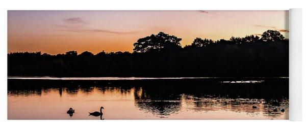 Swans At Sunrise Yoga Mat