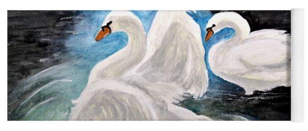 Swans In Love Yoga Mat
