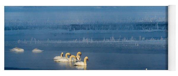 Swans On The Lake Yoga Mat