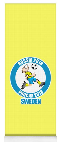 Sweden In The Soccer World Cup Russia 2018 Yoga Mat