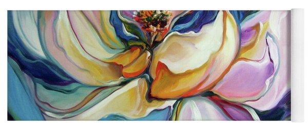 Sweet Magnoli Floral Abstract Yoga Mat