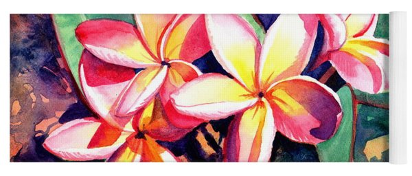 Sweet Plumeria Yoga Mat
