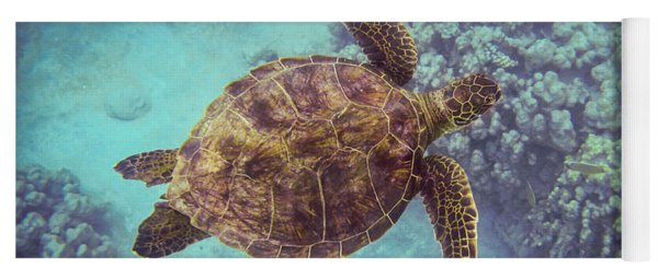 Swimming Honu From Above Yoga Mat