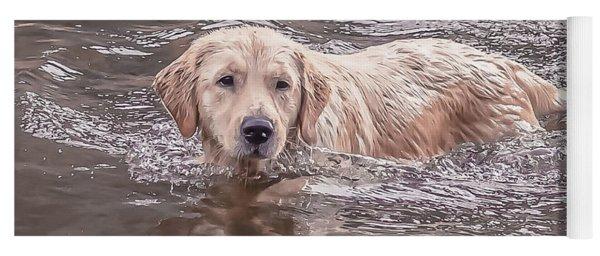 Swimming Puppy Yoga Mat