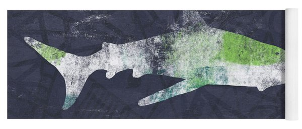 Swimming With Sharks 3- Art By Linda Woods Yoga Mat