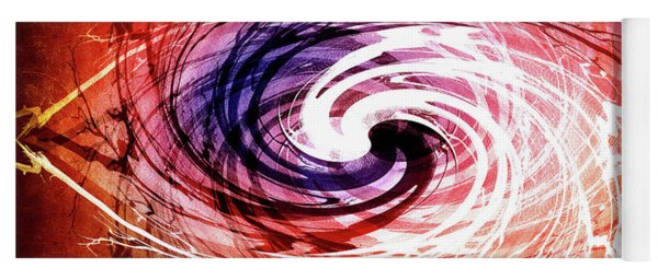 Swirl Of Branches Yoga Mat