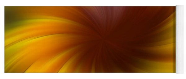 Swirling Yellow And Brown Yoga Mat
