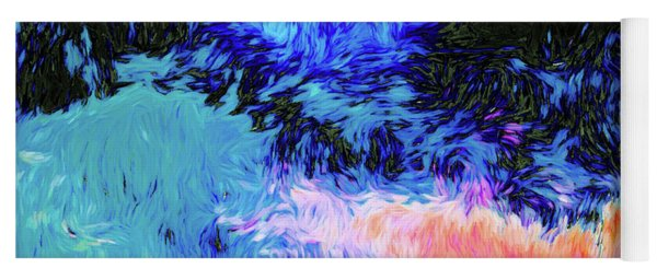 Swirly Abstract Landscape Yoga Mat