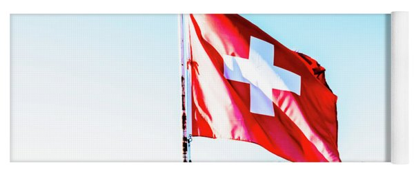 Swiss Flag Yoga Mat