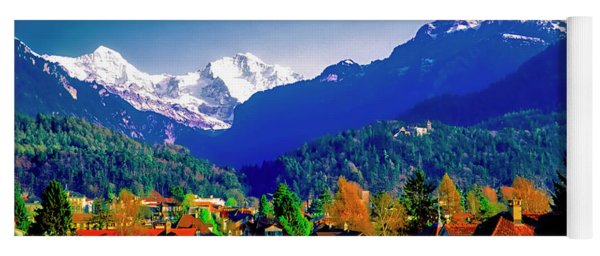 Switzerland Alps Interlaken  Yoga Mat