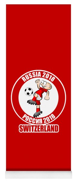 Switzerland In The Soccer World Cup Russia 2018 Yoga Mat
