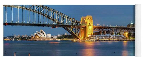 Sydney Harbour At Dusk Yoga Mat