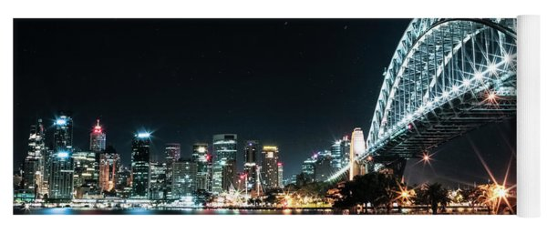 Sydney Harbour Sparkle Yoga Mat