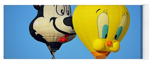 Sylvester And Tweety Balloons Yoga Mat