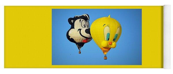 Sylvester And Tweety Balloons Yoga Mat
