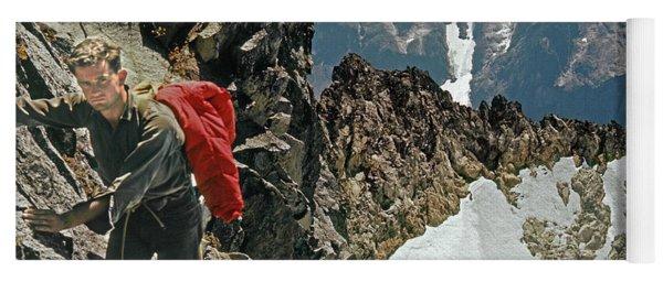 T-04403 Walt Buck Sellers On First Ascent Of Mt. Torment Yoga Mat