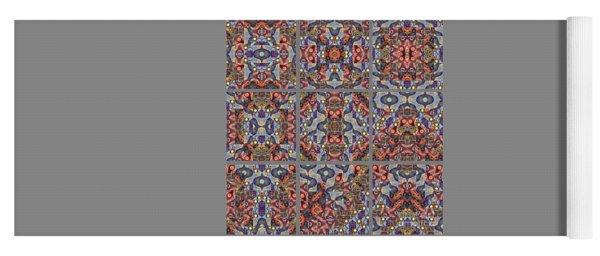T J O D Mandala Series Puzzle 1 Variations 1-9 Yoga Mat