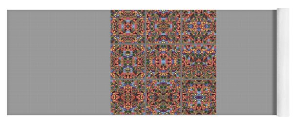 T J O D Mandala Series Puzzle 2 Variations 1-9 Yoga Mat