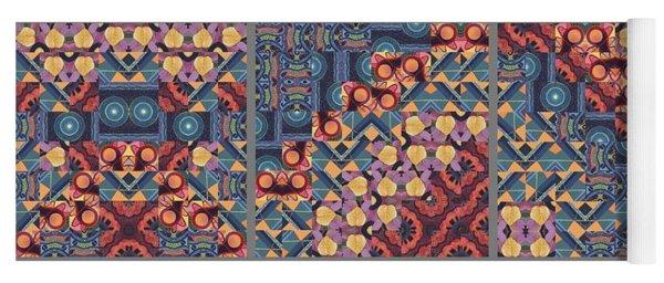 T J O D Mandala Series Puzzle 5 Variations 1 To 9 Yoga Mat