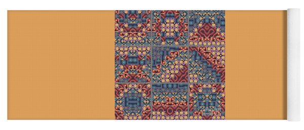 T J O D Mandala Series Puzzle 5 Variations 1 To 9 Yoga Mat