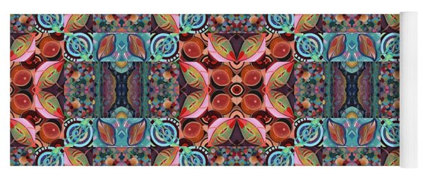 T J O D Mandala Series Puzzle 7 Arrangement 1 Multiplied Yoga Mat