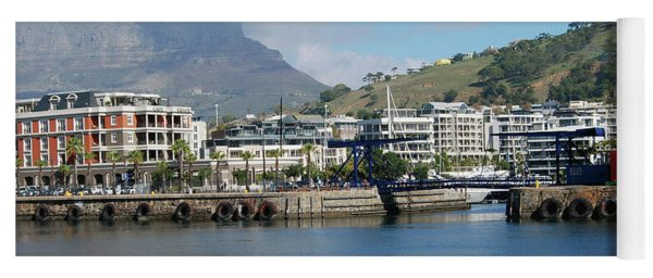 Table Mountain From The V And A Waterfront Quays Yoga Mat