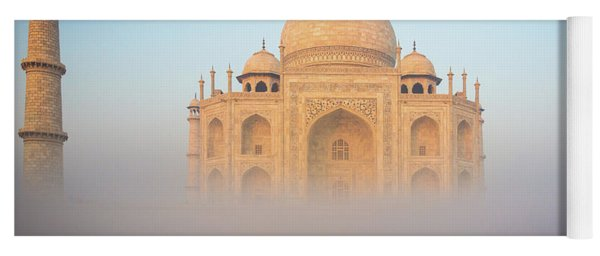 Taj Mahal In The Mist Yoga Mat