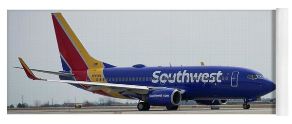 Take Off Southwest Airlines N7878a Hartsfield-jackson Atlanta International Airport Art Yoga Mat
