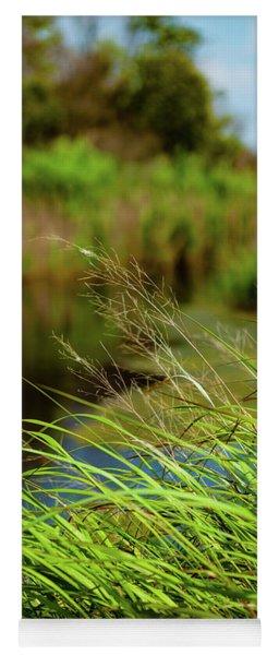 Tall Grass At Boat Dock Yoga Mat