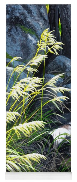 Tall Grass In A Breeze Yoga Mat