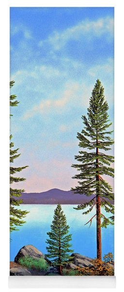 Tall Pines Of Lake Tahoe Yoga Mat