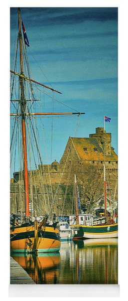 Tall Ship In Saint Malo Yoga Mat