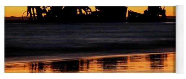 Tangalooma Wrecks Sunset Silhouette Yoga Mat