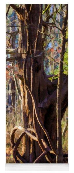 Tangled Vines On Tree Yoga Mat