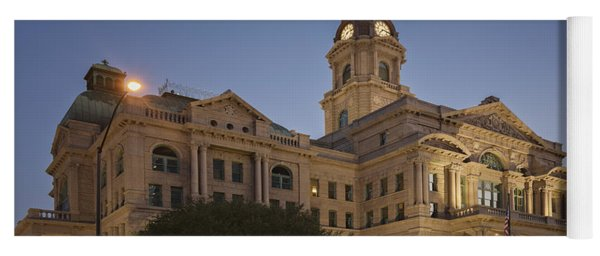 Tarrant County Courthouse Rebirth Yoga Mat
