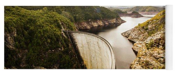 Tasmania Hydropower Dam Yoga Mat