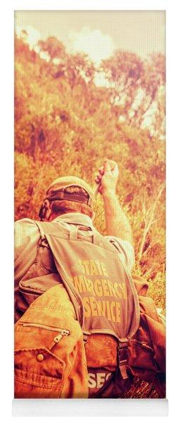 Tasmania Search And Rescue Ses Volunteer  Yoga Mat