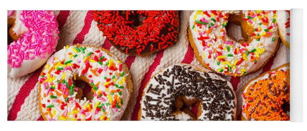 Tasty Colorful Donuts Yoga Mat