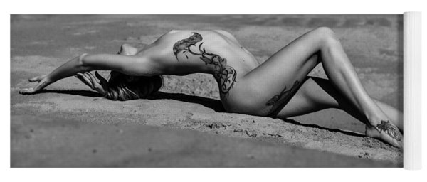 Tattoo Woman On The Beach Yoga Mat