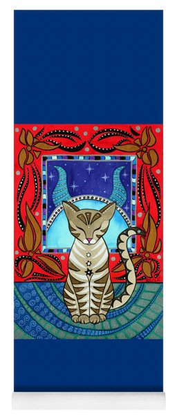Taurus Cat Zodiac Yoga Mat