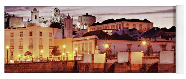 Yoga Mat featuring the photograph Tavira At Dusk - Portugal by Barry O Carroll