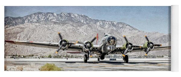 B-17 Bomber Madras Maiden Yoga Mat