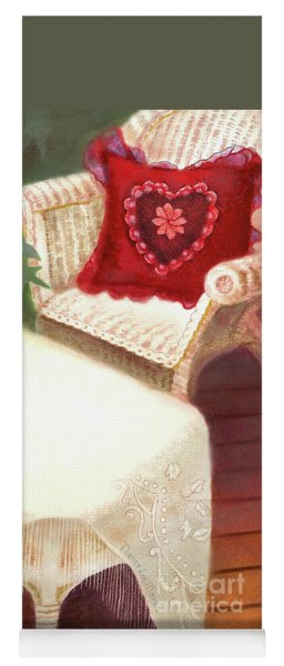 Yoga Mat featuring the painting Tea In A Victorian Cottage Garden by Nancy Lee Moran