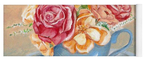 Tea Roses Yoga Mat