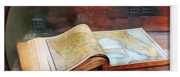 Teacher - Geography Book Yoga Mat