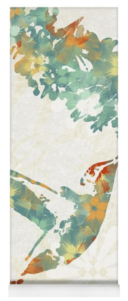 Floral Hummingbird Art Yoga Mat
