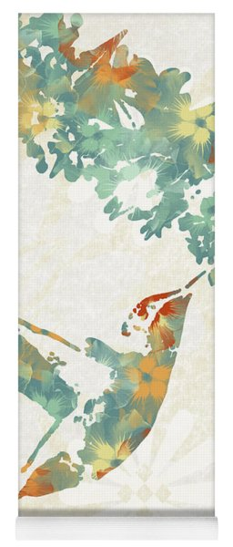 Floral Hummingbird Art Yoga Mat