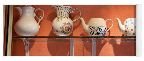 Teapots At Morning Buns Yoga Mat
